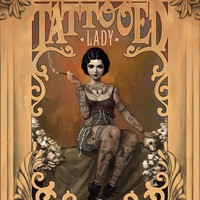 """The Amazing Tatooed Lady"" - Art Print by Rudy-Jan Faber"