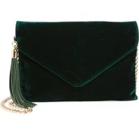 BP. Tassel Velvet Crossbody Bag | Nordstrom