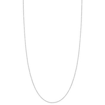925 Sterling Silver Thin Delicate 1mm Curb Link Chain