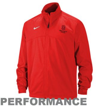 Nike South Dakota Coyotes Victor Woven Performance Full Zip Jacket - Vermillion