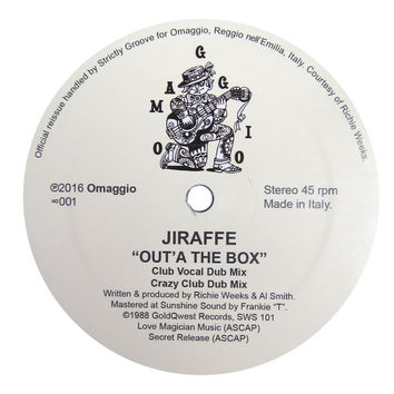 Jiraffe: Out'A The Box (Richie Weeks) Vinyl 12""