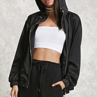 Hooded Satin Jacket