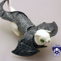 Ferrets / Small pets Harness- Grey Scaled Dragon Halloween Costume - One size fits most MADE TO ORDER