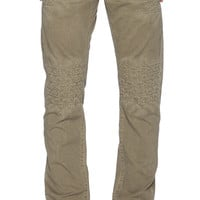 True Religion Geo Patched Quilted Dean Twill in Army