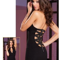 Dreamgirl Cut Out Dress and Thong