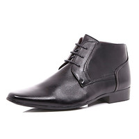 River Island MensBlack lace up formal boots