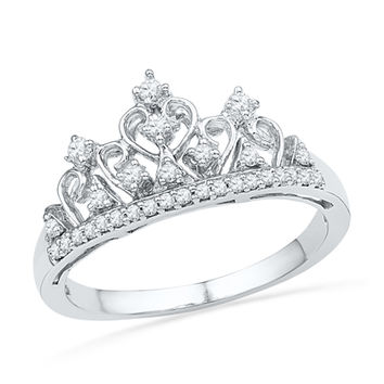 Zales 1/5 CT. T.w. Diamond Tiara Ring in Sterling Silver 8JzBr02Gk