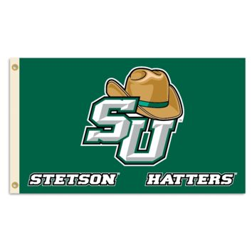NCAA Stetson  (w/hat) 3 Ft. X 5 Ft. Flag W/Grommets