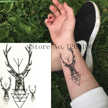 Tattoo Sticker 10x6cm Fashion Small Cute Deer Waterproof Temporary