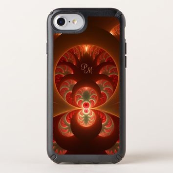 Luminous abstract modern Fractal Art Monogram Speck iPhone Case