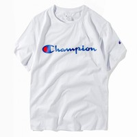 Champion summer men and women simple printing couples wear short sleeves T-shirt casual short sleeves