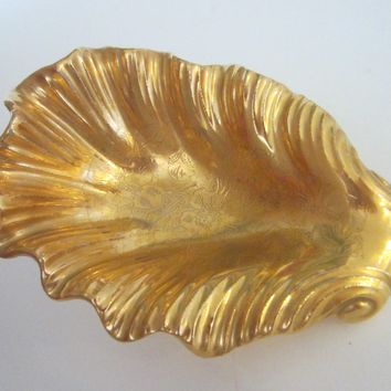 Stouffer Fine China Gold Leaf Bon Bon Dish With Gold Registered Trade Mark