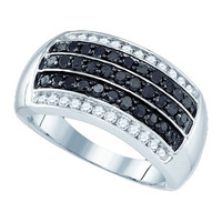 Diamond Fashion Ring in 10k White Gold 1.01 ctw