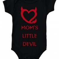 "INFANT'S ""MOM'S LIL DEVIL "" Onesuit BY RUDECHIX (BLACK)"