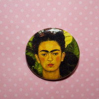 Frida Kahlo,Frida pin back 1.25 in Frida Kahlo Pin Frida Kahlo Birthday Christmas Gift Hand Drawn Illustration Pin Fan Art Frida badge