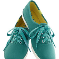 Jump for Joy Sneakers in Teal | Mod Retro Vintage Flats | ModCloth.com