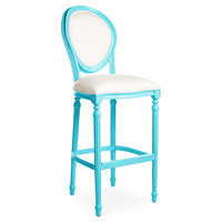 Melrose Outdoor Barstool, Blue/White, Outdoor Bar & Counter Stools