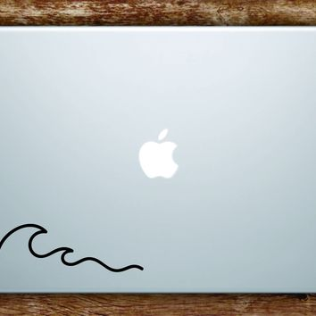 Wave Laptop Apple Macbook Car Quote Wall Decal Sticker Art Vinyl Beautiful Inspirational Wavy Surf Minimalist Indie Ocean Beach Travel