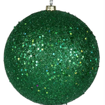 Christmas Ornament - Green Glitter
