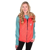 Fleece Vest in Coral by the Fraternity Collection