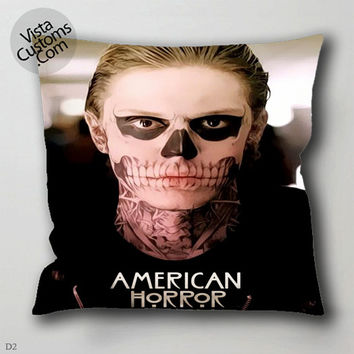 27 American Horror Story Skull Tate pillow case, cover ( 1 or 2 Side Print With Size 16, 18, 20, 26, 30, 36 inch )