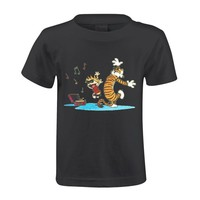 Short Sleeve Toypop Calvin And Hobbes Tiger Cotton Crewneck Men's T-shirt [c00-32637717] - $11.99 : coolhl.com