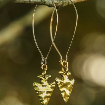 Show Me The Way Earrings-Gold