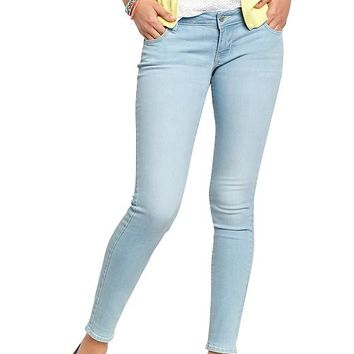 Old Navy Womens Low Rise Rockstar Skinny Jeans Size 14 Regular - Light blue