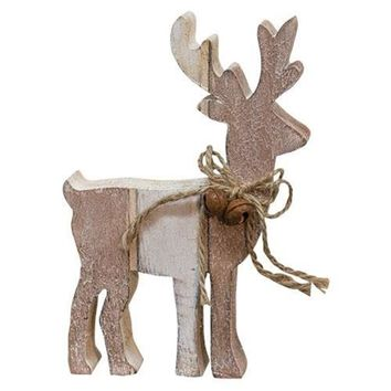 Chunky Wooden Cut-out Reindeer