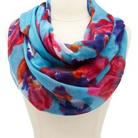 IKAT FLORAL PRINTED INFINITY SCARF