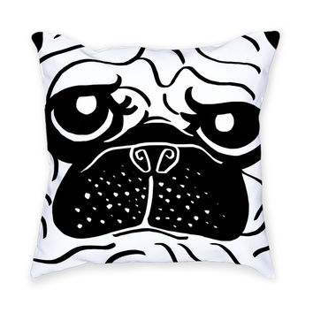 So into this design on Fab! Pug Throw Pillow #FabForAll