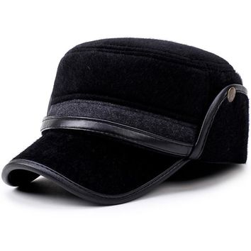 Winter Men's Warm Baseball Caps With Ear Flaps In Cold Weather Families Dad's Warm Hats Father's Best Gifts Keep Warm Hats