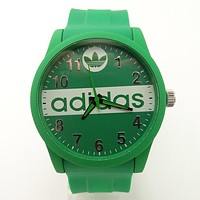 ADIDAS tide brand men and women fashion tape watch F-SBHY-WSL Green