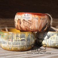 Be the Change - Wooden Bangle