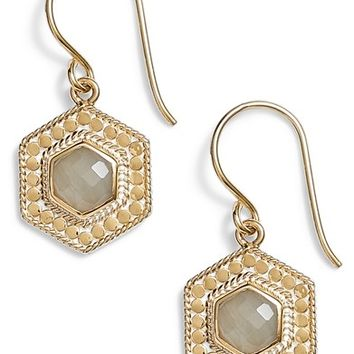 Anna Beck Grey Moonstone Hexagon Drop Earrings | Nordstrom