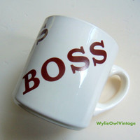 Vintage Boss Coffee Mug 1977 Made in USA