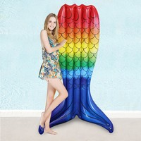 Giant Rainbow Mermaid Tail Pool Float
