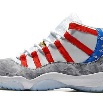 DCCKO03T 2017 Fashion New Arrival Air Jordan 11 Retro High Tops American Flag Sneaker