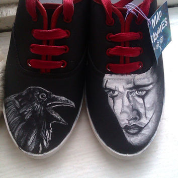 Personalized handpainted shoes,The Crow Fanart shoes, custom snekers