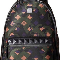 MCM Unisex Dieter Munich Lion Camo Nylon Medium Backpack  mcm