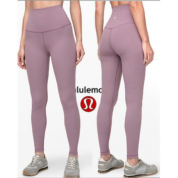 Lulu Lemon Women Fashion Sport Trouser Yoga Pants Girls Legging high elasticity Classic little Slim fit pants