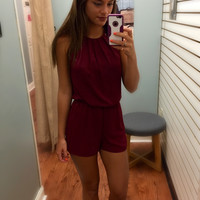 Adore You Romper - Maroon