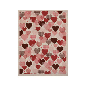 """Heidi Jennings """"Love"""" Pink Red KESS Naturals Canvas (Frame not Included)"""