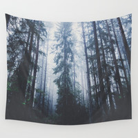 The mighty pines Wall Tapestry by happymelvin
