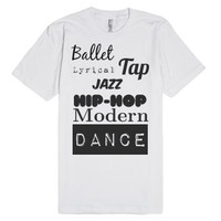Styles of Dance-Unisex White T-Shirt