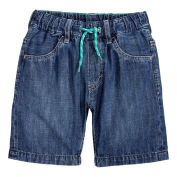 H&M - Denim Shorts - Denim blue - Kids