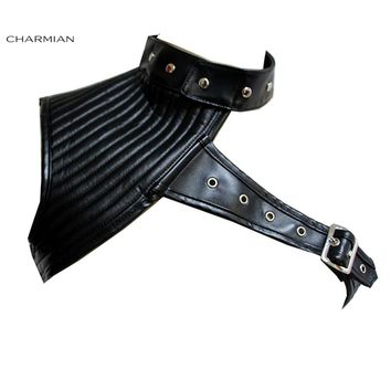 Charmian Women's Steampunk Corset Shrug One Shoulder Stand Corset Jacket Vintage Gothic Punk Rock Clothing Costume Accessories