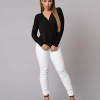 So Sophisticated Blouse - Black