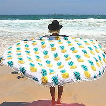 Sweet Pinapple Round Towel