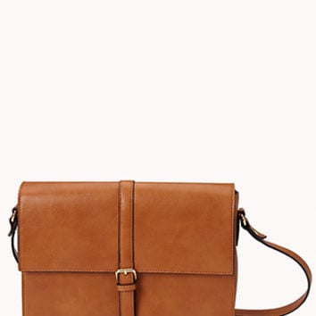 Refined Faux Leather Crossbody